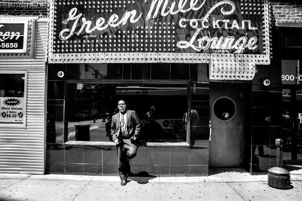 Chicago's Master Free-Flow Rap Artist, Greg Antczak, June 13, 2014. Photo by, Chuck Jines.